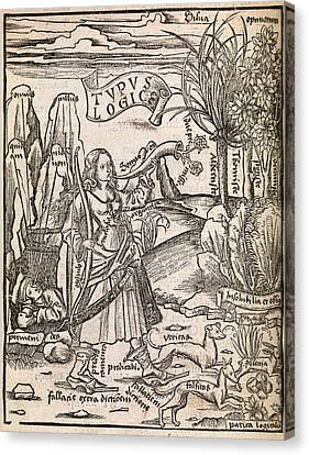 Mathematical Logic, 1503 Canvas Print by Middle Temple Library