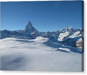 Matterhorn, Switzerland Canvas Print by Thepurpledoor