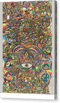 Maya Creation Canvas Print by Jonathan DiNo DiNapoli