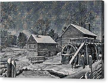 Mccormick's Farm February 2012 Series IIi Canvas Print by Kathy Jennings