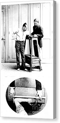 Measurement Of The Cubit, Bertillon Canvas Print by Science Source