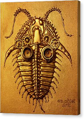 Mecha-trilobite 3 Canvas Print by Baron Dixon