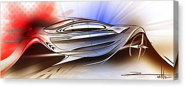 Mechanical Emotions Flow Canvas Print by Rahul Rathore