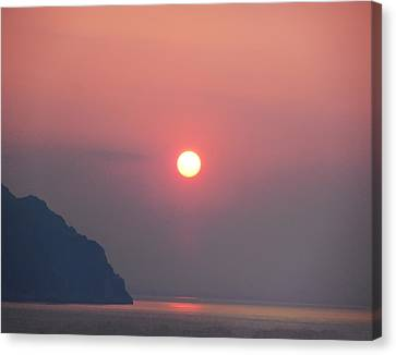 Medaterainian Sunset Canvas Print by Bill Cannon