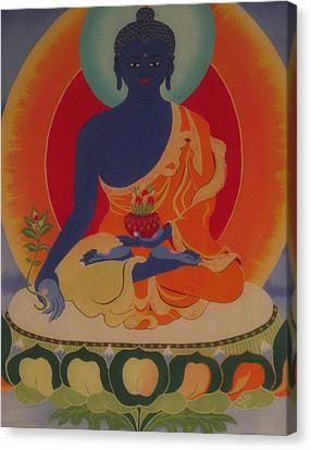 Medicine Buddha Canvas Print by Elisabeth Van der Horst