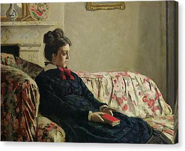 Meditation Canvas Print by Claude Monet