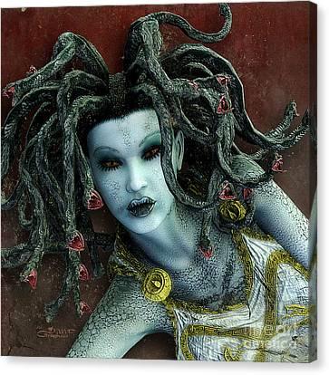 Medusa Canvas Print by Jutta Maria Pusl