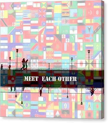 Meet Each Other Canvas Print by Steve K