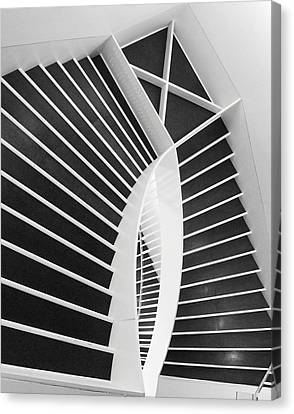 Meet Me Under The Stairs Canvas Print by Anna Villarreal Garbis