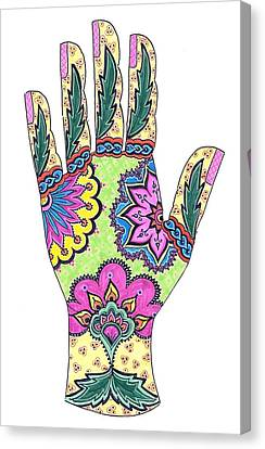 Mehndi Pop Art IIi Canvas Print by Suzan  Sommers