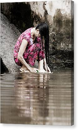 Mekong Delta Life Canvas Print by Iris Van den Broek