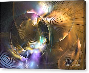 Mellow - Abstract Digital Art Canvas Print by Sipo Liimatainen