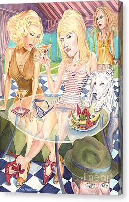 Melrose Place Melange Canvas Print by Lisa Hershman