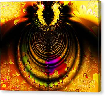 Melting Pot . Gold . Horizontal Cut . S8a.s11 Canvas Print by Wingsdomain Art and Photography