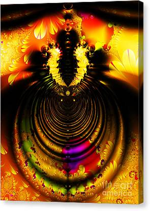 Melting Pot . Gold . S8a.s11 Canvas Print by Wingsdomain Art and Photography