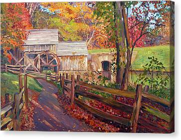Memories Of Autumn Canvas Print by David Lloyd Glover