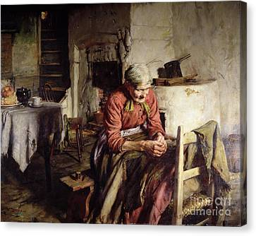 Memories Canvas Print by Walter Langley