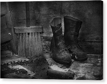 Men At Work Canvas Print by JC Photography and Art