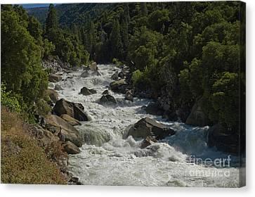 Merced River In Yosemite Canvas Print by Tim Mulina