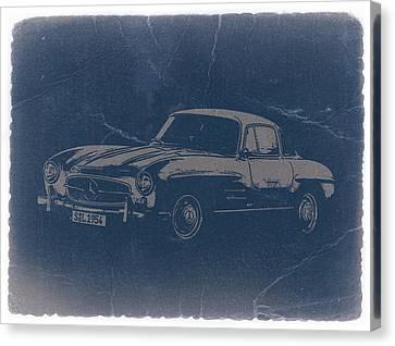 Mercedes Benz 300 Sl Canvas Print by Naxart Studio