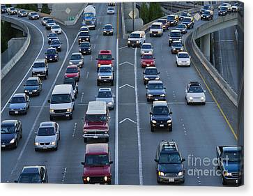 Merging Traffic Canvas Print by Jeremy Woodhouse