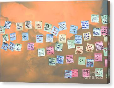 Messages In The Cloud . Rip Mr Steve Jobs . October 5 2011 . You Will Surely Be Missed Canvas Print by Wingsdomain Art and Photography