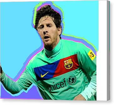 Messi Nixo Canvas Print by Nicholas Nixo