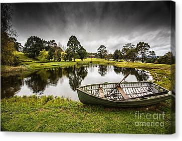 Messing About In A Boat Canvas Print by Avalon Fine Art Photography