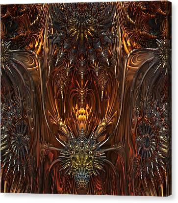 Metal Dragons Canvas Print by Lyle Hatch