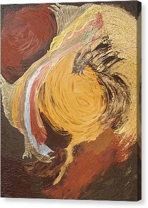 Metallic Angel Sent To Ameliorate Canvas Print by Lisa Kramer