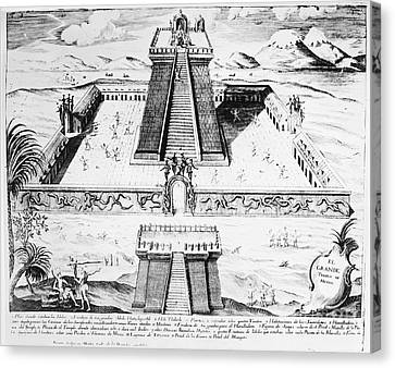Mexico: Aztec Temple, 1765 Canvas Print by Granger