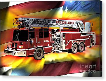 Mfd Ladder Co 1 Canvas Print by Tommy Anderson