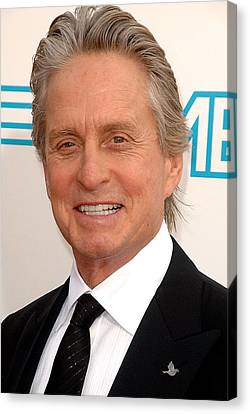 Michael Douglas At Arrivals For 37th Canvas Print by Everett