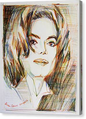 Michael Jackson - Indigo Child  Canvas Print by Hitomi Osanai