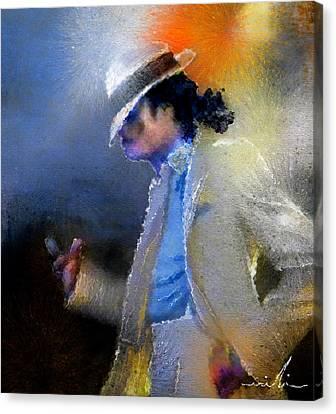 Michael Jackson 10 Canvas Print by Miki De Goodaboom