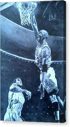 Michael Jordan - The Art Of His Airness Canvas Print by Damardre Williams