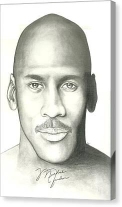 Michael Jordan Canvas Print by Scott Williams