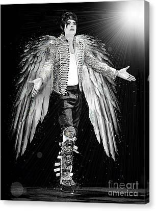 Michael King Of Angels Canvas Print by Karine Percheron-Daniels