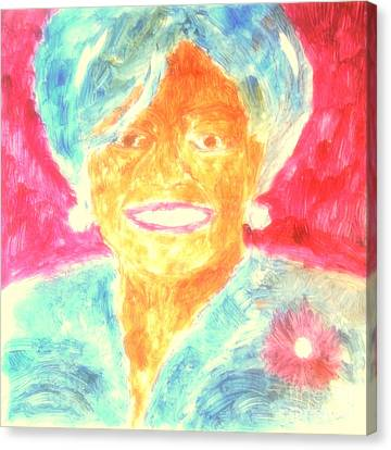 Michelle Obama 2 Canvas Print by Richard W Linford