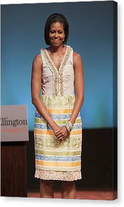 Michelle Obama In Attendance For Lady Canvas Print by Everett