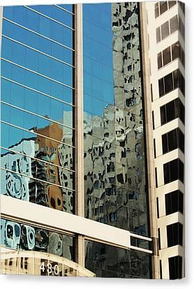 Michigan Ave. Reflection Canvas Print by Todd Sherlock