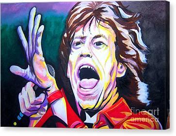 Mick Jagger Canvas Print by Ken Huber