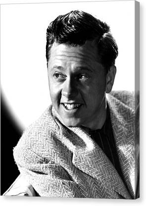 Mickey Rooney, Mgm, Ca. Late 1940s Canvas Print by Everett