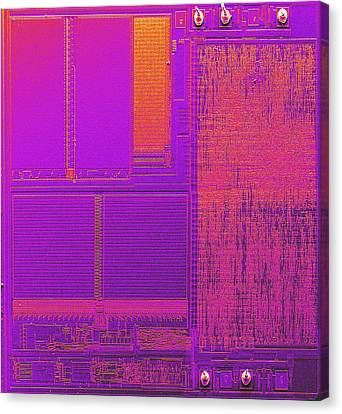 Microchip, Sem Canvas Print by Power And Syred