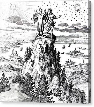 Microcosm, Macrocosm, 17th Century Canvas Print by Science Source