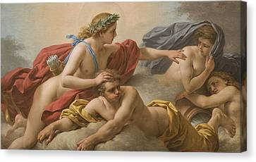 Midday Canvas Print by Louis Jean Francois I Lagrenee