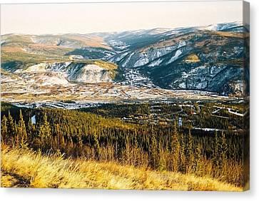 Midnight Dome - Dawson City Canvas Print by Juergen Weiss