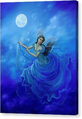 Midnight Fairy Canvas Print by BK Lusk