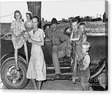 Migrant Workers 1939 Canvas Print by Granger