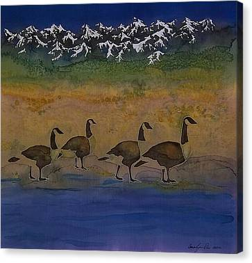 Migration Series Geese 2 Canvas Print by Carolyn Doe